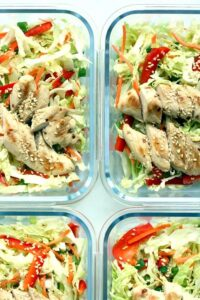 1200 Calorie High Protein Low Carb Diet - salad