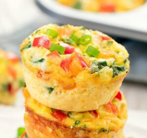 1200 Calorie Meal Prep - omelet muffins