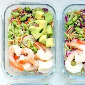 1200 Calorie Meal Prep - shrimp and edamame