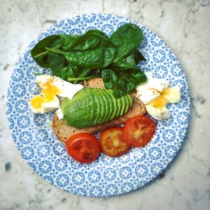 1300 calorie Paleo meal plan - spinach egg