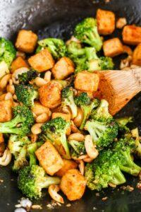 1800 calorie vegan meal plan - garlic broccoli tofu