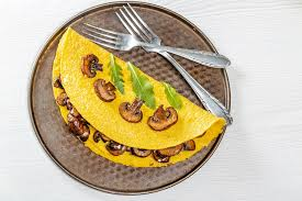low carb vegetarian meal plan - egg white spinach omelet