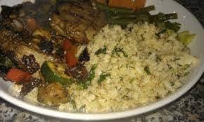 Vegan autoimmune diet - cauliflower rice