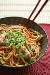 female body toning meal plan - peanut noodles